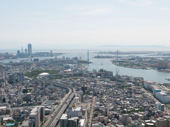 大阪のベイエリアの景色が一望いただけます