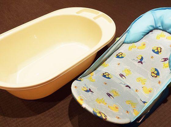 【ベビーバス・ベビーバスチェア】大浴場にご用意しているので、お子さまも安心して入浴でき ます