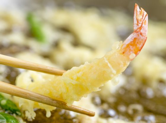 ライブキッチンでご提供する揚げたて天ぷら