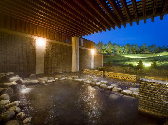 露天風呂から満点の星空が楽しめます