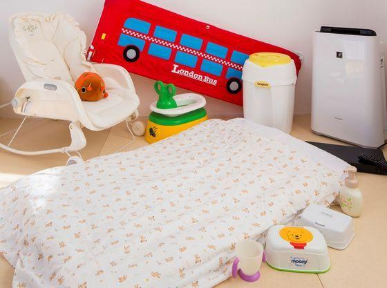 赤ちゃん向けの備品も充実!