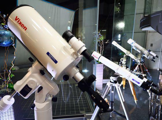 天体望遠鏡など星観察グッズをご用意しています
