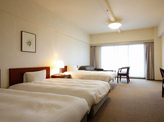 2台のベッド同士がくっついたお部屋【ハリウッドツインルーム】