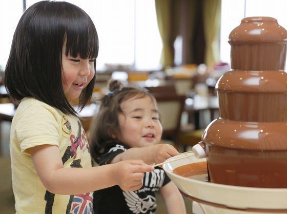 大人気のチョコレートファウンテン。