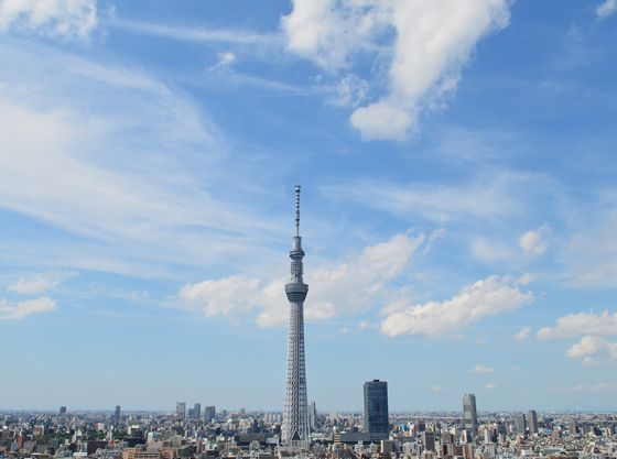 ホテルから東京スカイツリーまでは徒歩約20分、電車で一駅。
