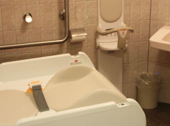 """ビュッフェレストラン""""エルバージュ""""には多目的トイレがございます"""