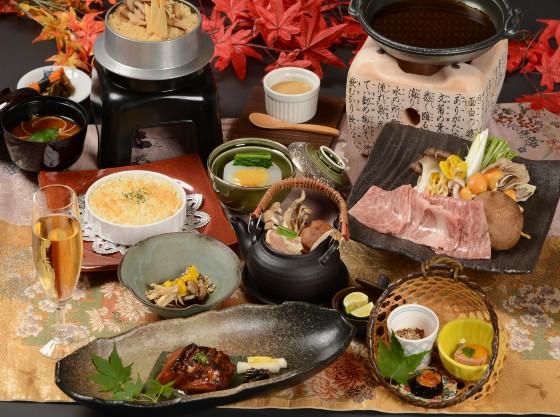 滋味山里料理コンセプトに地元食材にこだわった会席料理です。