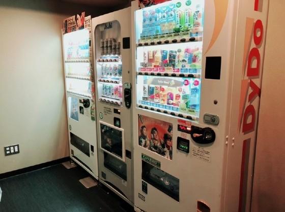 自動販売機コーナー完備