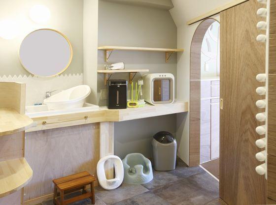 mamatoco roomのママに優しい洗面所