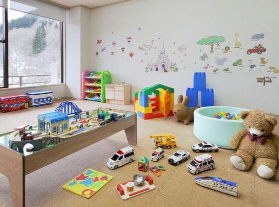 滞在中にお子様が楽しめるキッズスペース。楽しいおもちゃをご用意。
