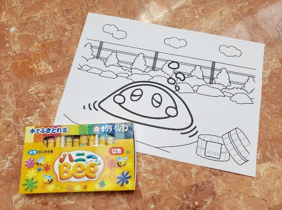 かんぽの宿キャラクター「ゆのぽん」塗り絵をプレゼント