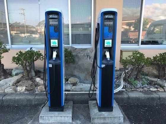 電気自動車(EV)充電器を2台設置しています