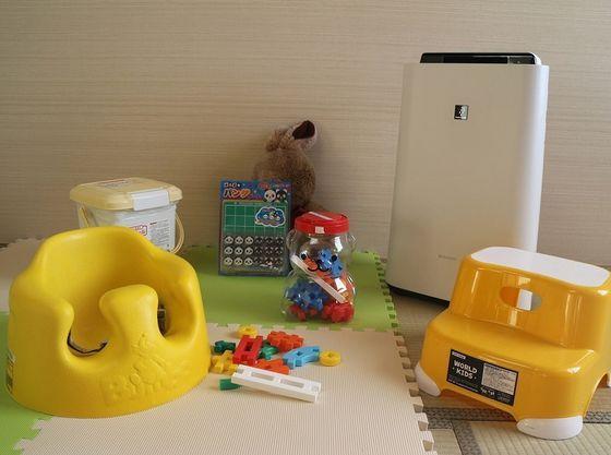 加湿機能付空気清浄機やお子さまに必要なグッズなどを常備