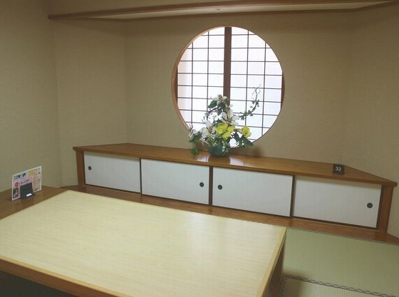 お食事場所は個室でゆっくり(4名様まで利用可)