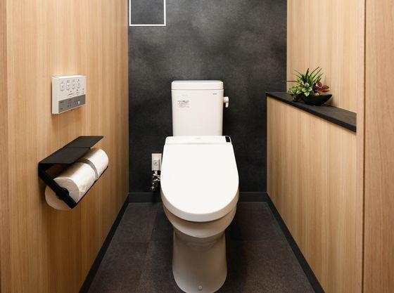 落ち着いた雰囲気のトイレです