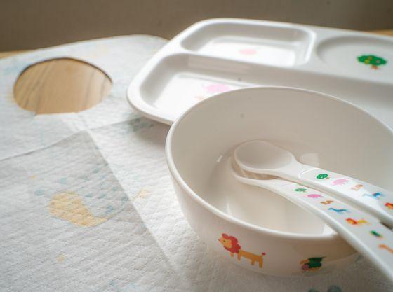 エプロン・お子様用食器あります