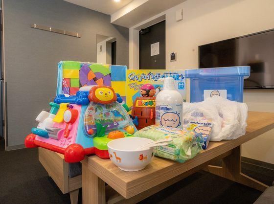 おもちゃや備品が豊富です!