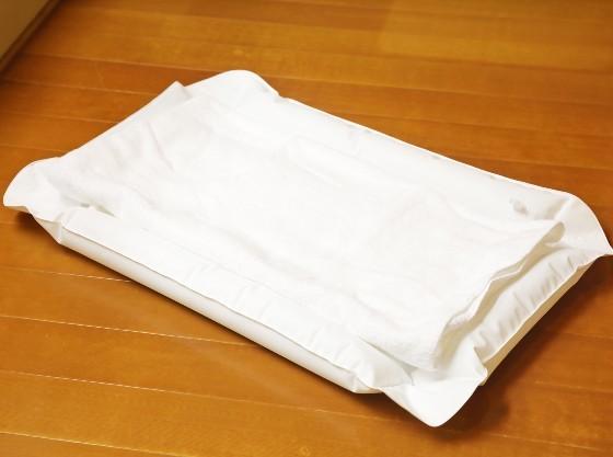 脱衣所にはベビーマットをご用意。寝かせたまま、着替えやオムツ替えもできます。