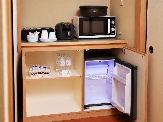 冷蔵庫と電子レンジがあるので、離乳食の保存や温めに便利です。