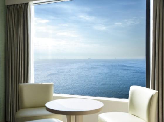 東京湾を望める客室からの眺望