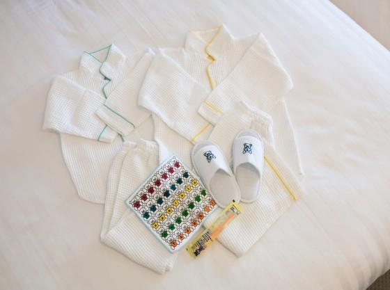 キッズアメニティ(お子さま用パジャマ(90㎝・120㎝)歯ブラシ・ハンドタオル・スリッパ)