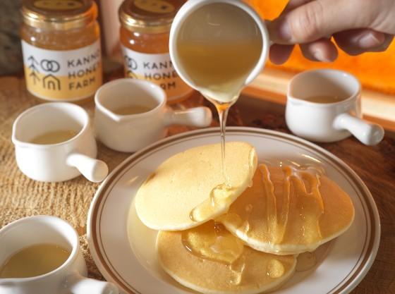 地元産のハチミツは朝食ブッフェにご用意