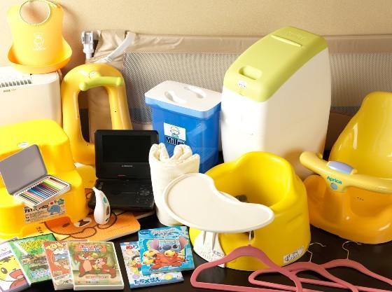 お子様用貸出備品を数種ご用意しています