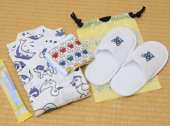 幼児用アメニティ(歯ブラシ・スリッパ・ハンカチ) 浴衣
