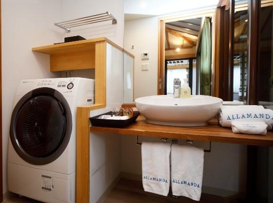 全室に洗濯機がついてます
