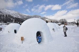 約20基のかまくらが出現【冬の風物詩 レストランかまくら村を初体験(長野県)】